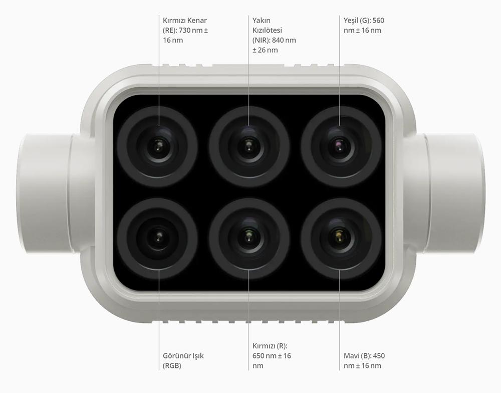dji phantom 4 multispectral kamera